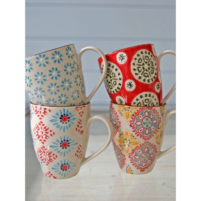 Bohemian Mug Set Of 4