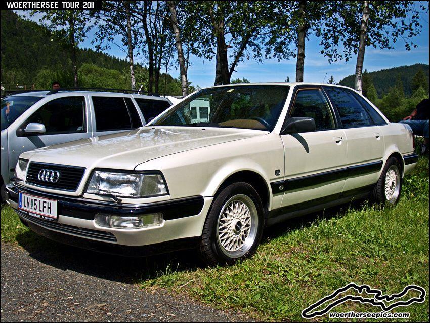 White Audi V8