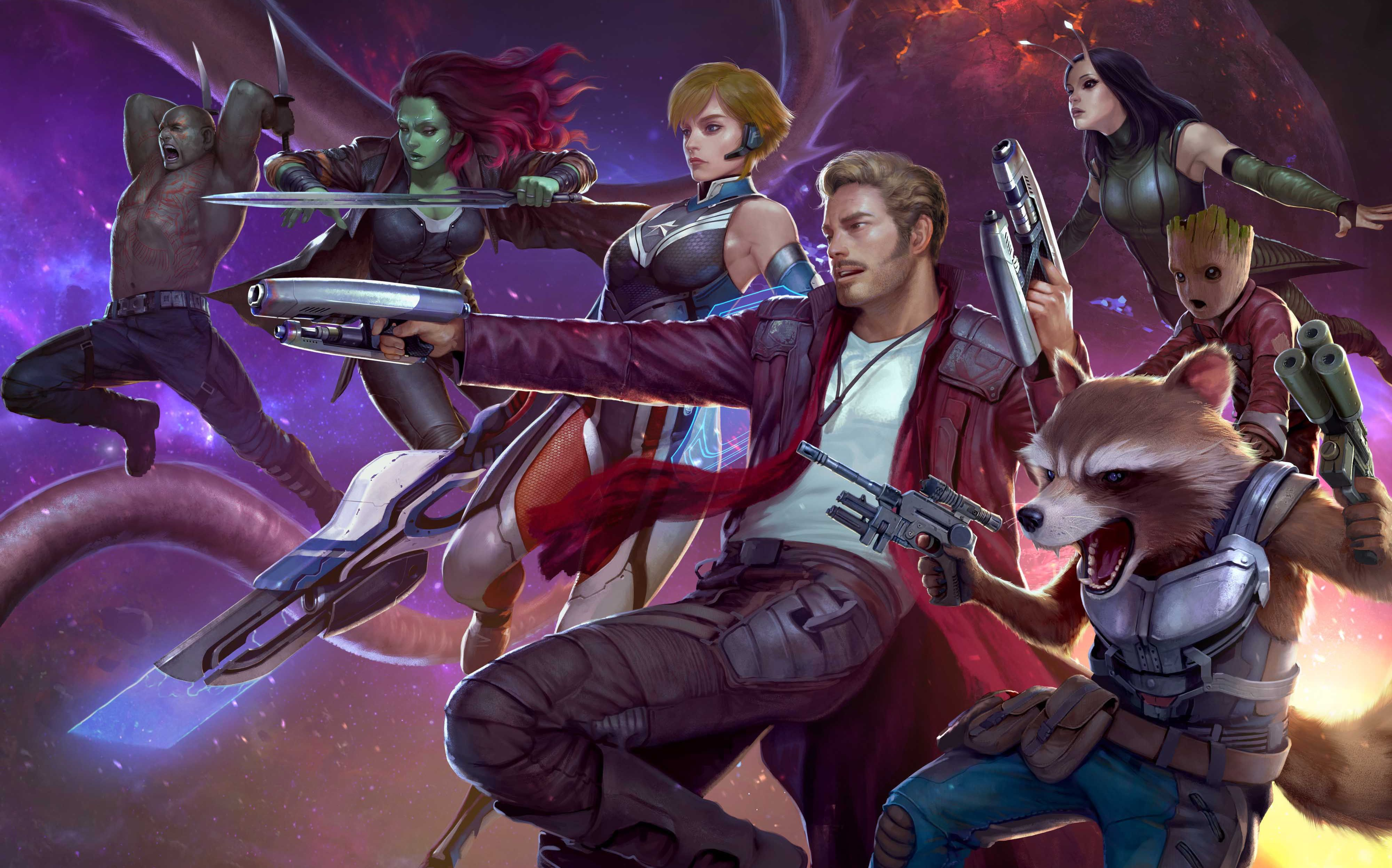 Marvel Future Fight Games Hd 4k Guardians Of The Galaxy Star