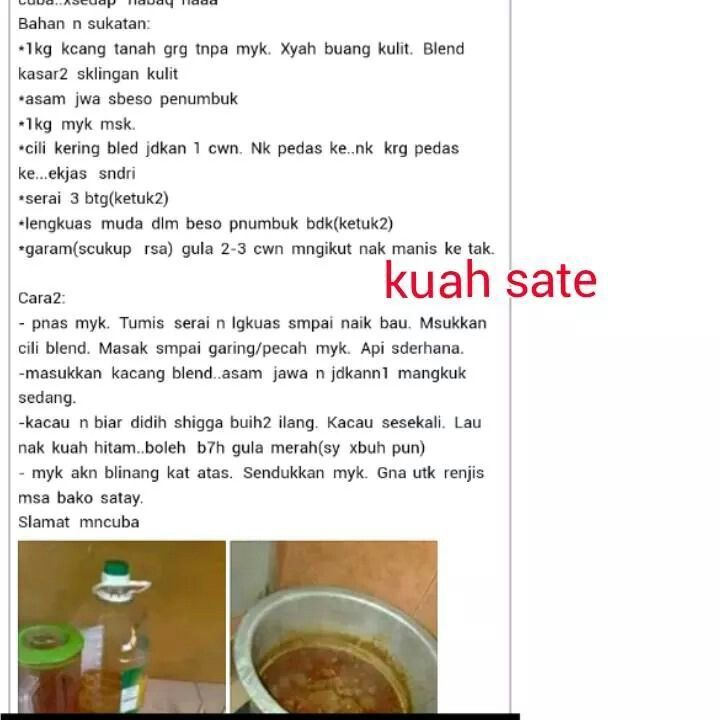 Kuah Satey Sate Homemade Delicacy