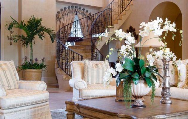 50+ Mediterranean Living Room Decor Interior Design_26 Awesome