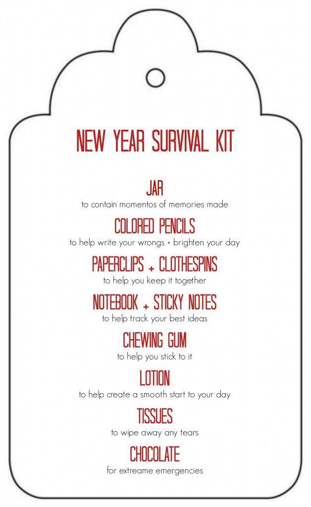 DIY New Years Survival Kit | Survival kit for teachers ...