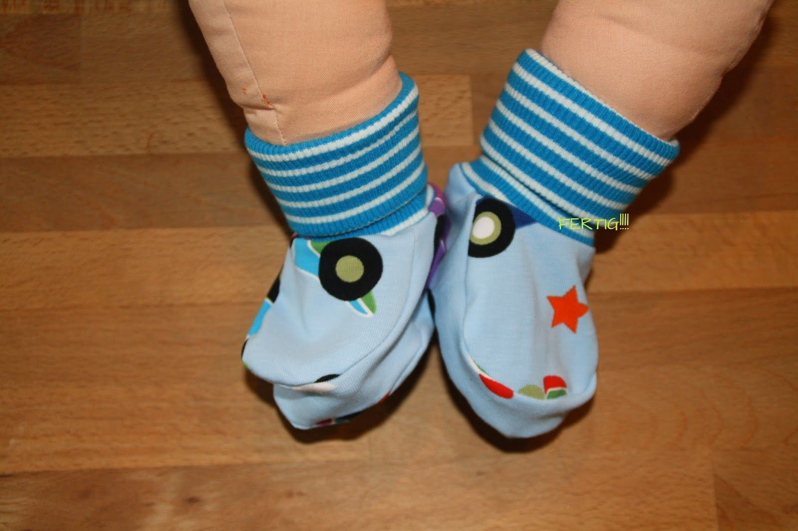 Baby Schuhe 365 Tage Sew Along, Babyschuh Tutorial, Babyschuhe ...
