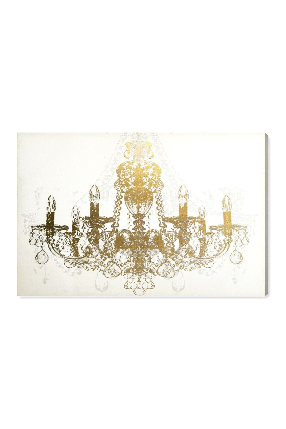 Chandelier Diamond 45x30 Canvas Wall Art