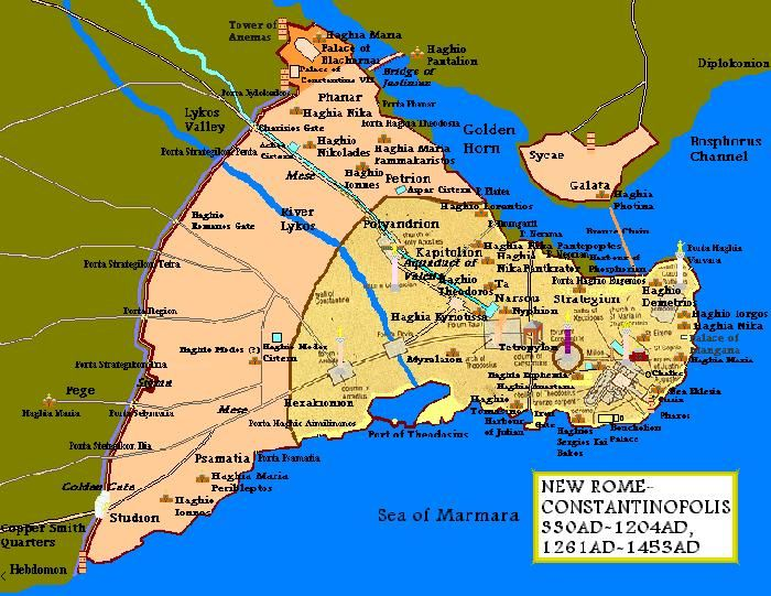 Map Of Constantinople This is a map i am aking of | Harita | Map ...