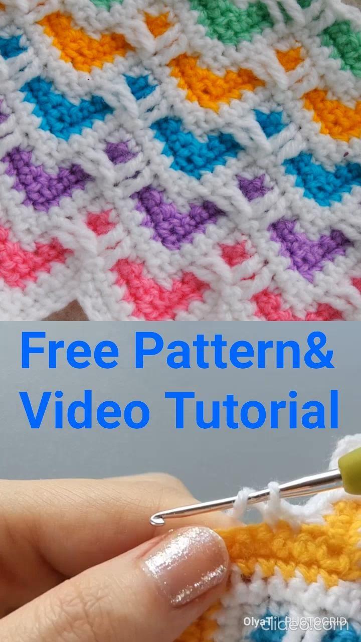 The Heart Zig Zag Stitch Free crochet pattern & Video Tutorial