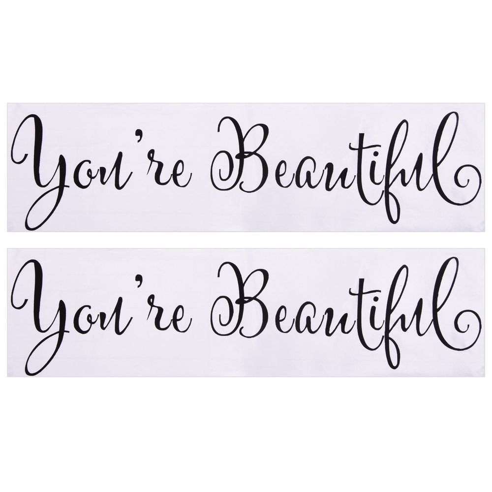 You're Beautiful Stickers 2 Pack Vinyl Decal Wall Mirror Sticker Free  Shipping