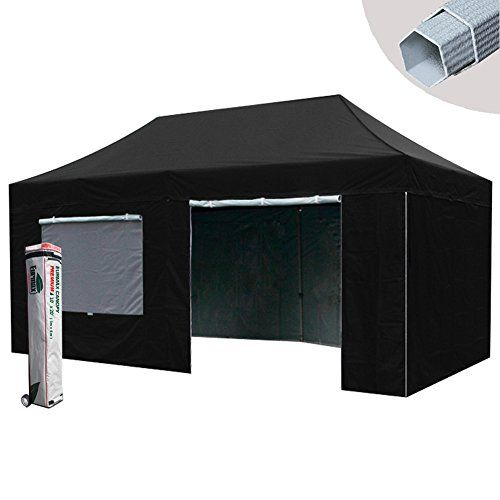 Eurmax Premium 10x20 Pop Up Canopy Tent Instant Shelter With 4 Zipper Sidewalls And Roller Bag Black Read More Canopy Tent Pop Up Canopy Tent Gazebo Canopy