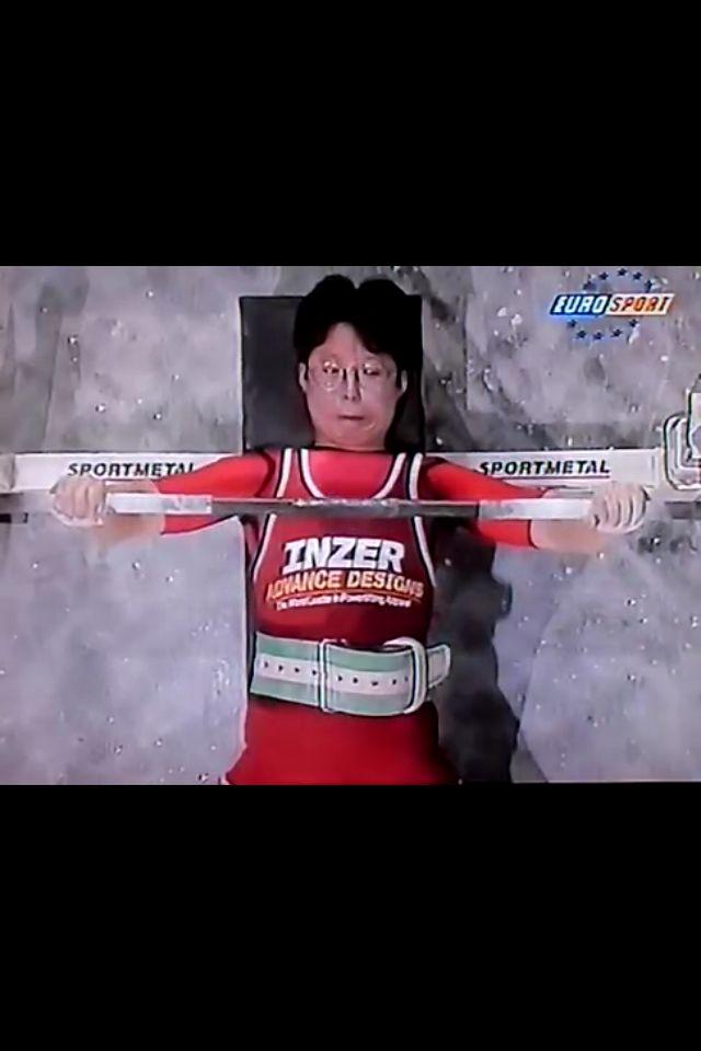 Eriko Himeno Japan BW 67.5kg class Weight 112.5 kgs World Bench Press Champs Finland 1994
