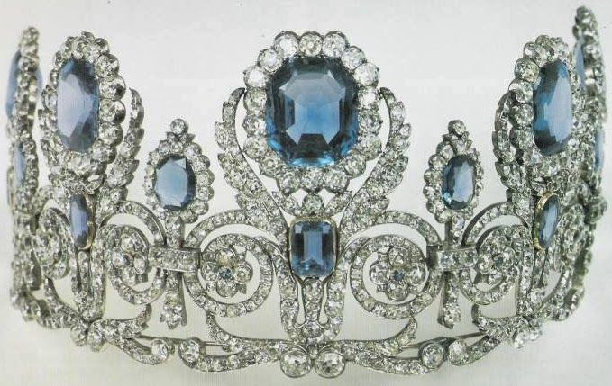 Sapphire Parure Tiara : Queen Hortense of Holland; possibly inherited from her mother, Empress Josephine of France | via : Tiara Mania