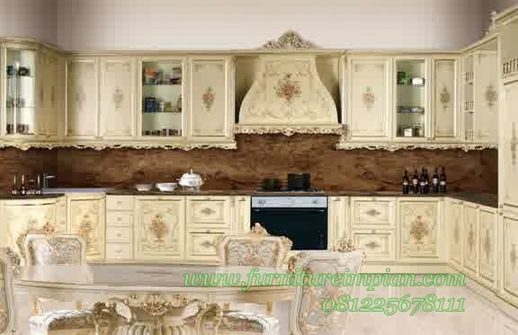 Kitchen set mewah kayu mahoni for Kitchen set mewah