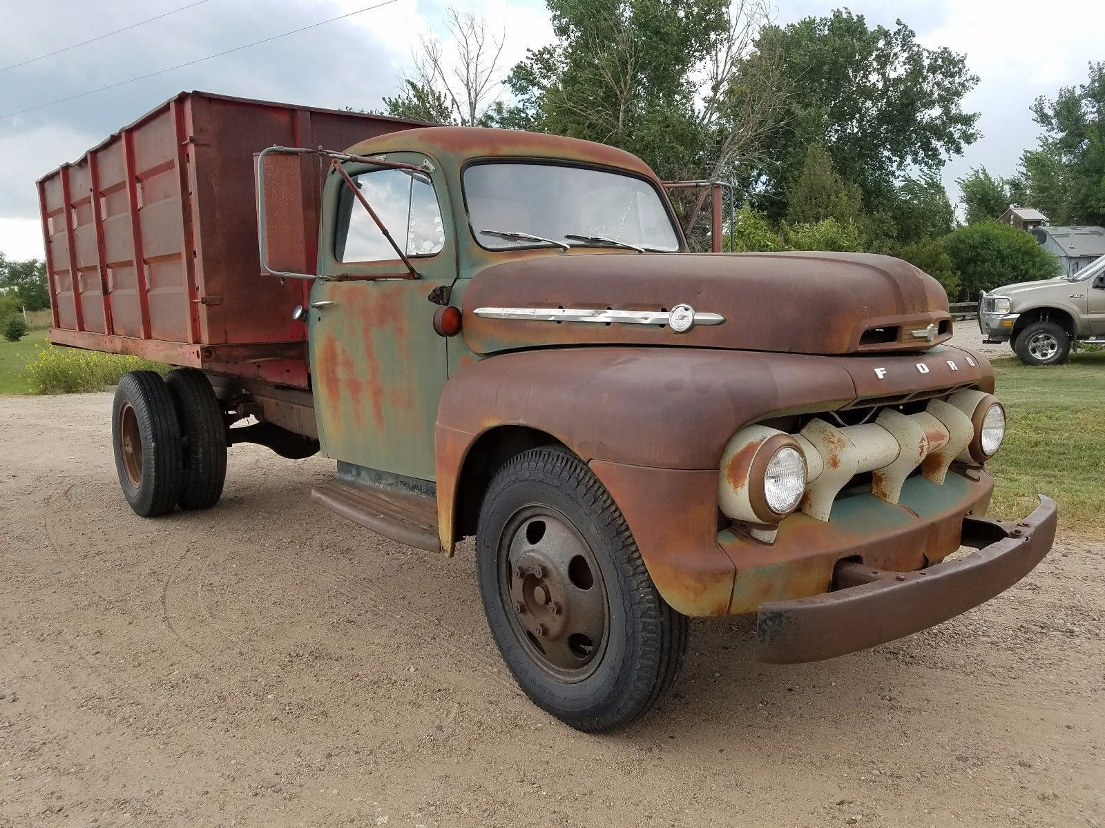 1952 Ford F6 Stakebed Dually Truck Ford Pickup Trucks Ford
