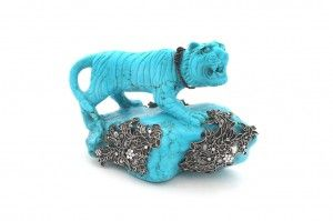 Chinese Turquoise Tiger Home Decor https://goo.gl/L7cF6H 908.40 $  #TigerHome