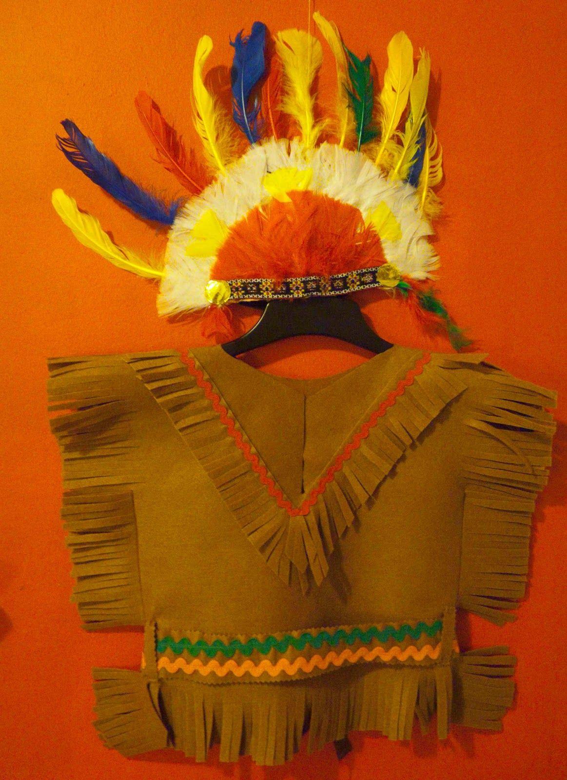 Las Cositas de Marga  Cómo hacer un disfraz de indio para niño paso a paso. 33fe84d7196