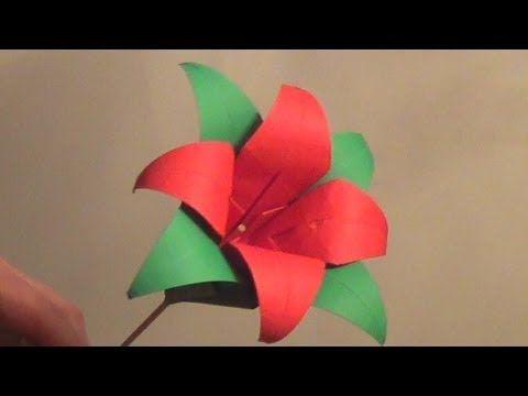 Tried it origami lily flower tutorial how to make an origami lily tried it origami lily flower tutorial how to make an origami lily flower youtube mightylinksfo