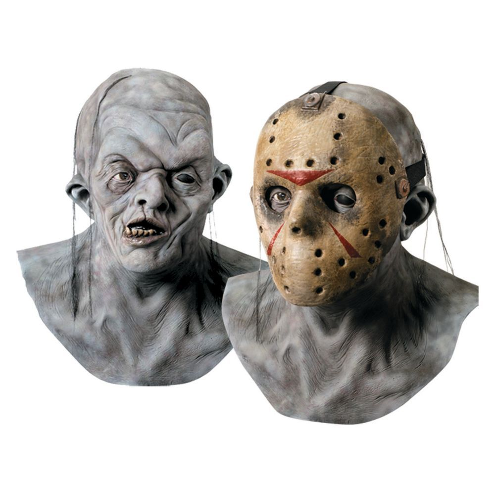 Deluxe Jason Voorhees Mask with Detachable Hockey Mask   As, Jason ...
