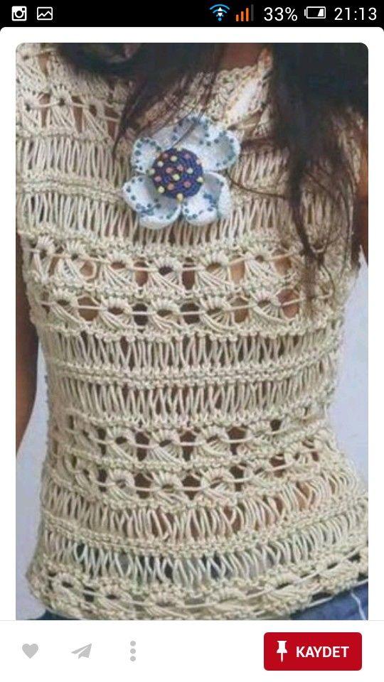 Pin de Marilina Eiroa Alvarellos en ganchillo | Pinterest | Blusas ...