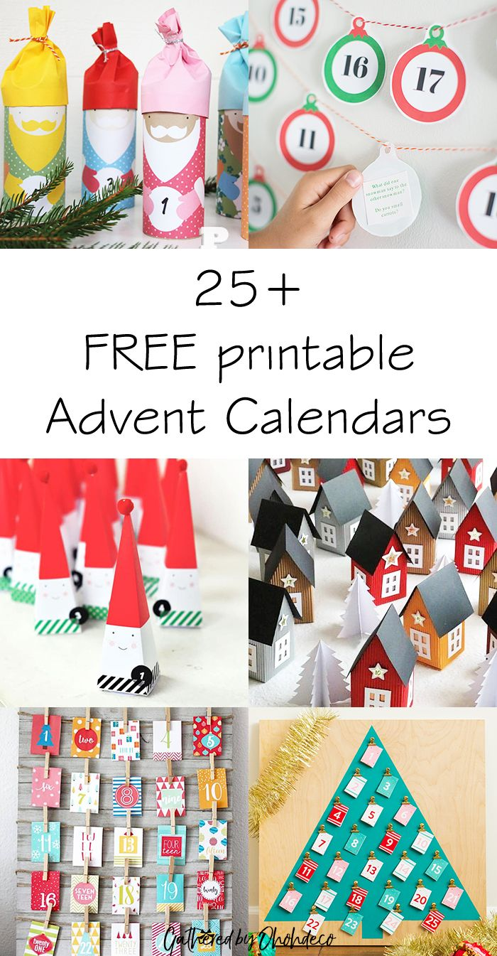 25 Free Printable Advent Calendars Diy Home Accessories Advent