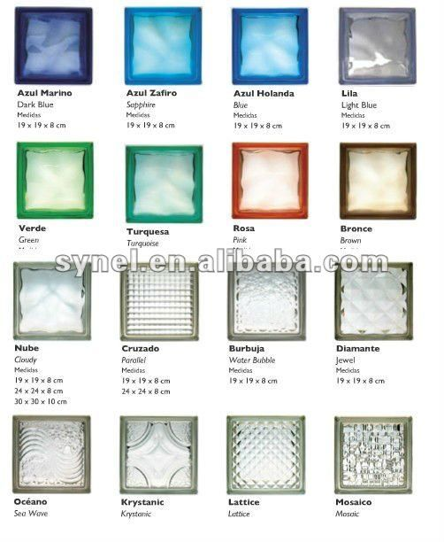 Glass block prices chinese clear colored glass brick for Glass bricks designs