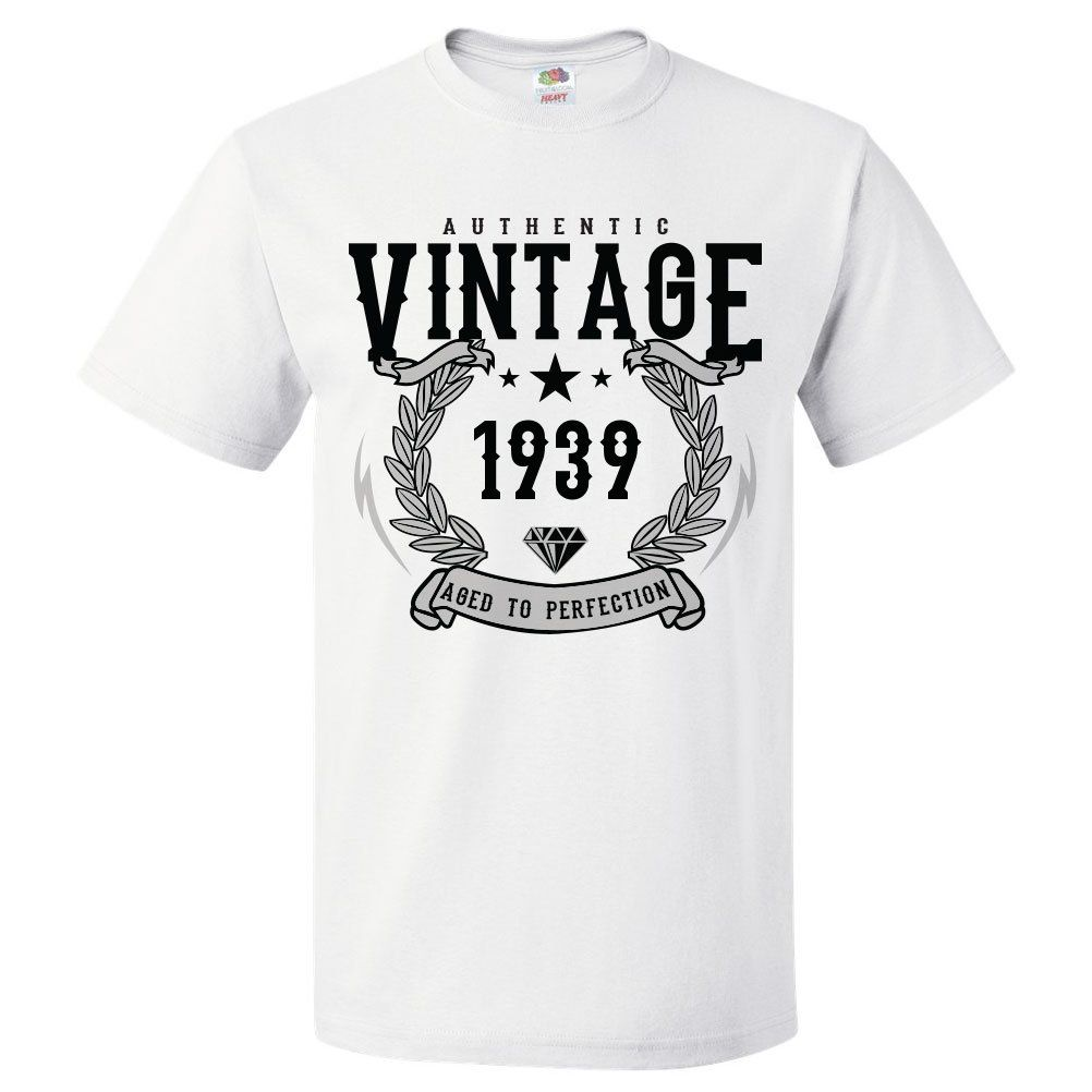 bd0f94666 80th Birthday Gift For 80 Year Old 1939 Aged To Perfection T Shirt ...