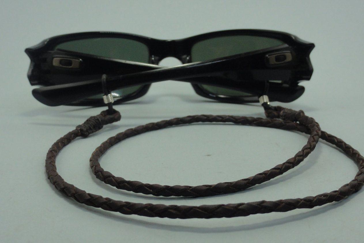 f2ada00ac7 cuelga gafas de cuero trenzado, cuelga gafas, cordon para gafas, cordon para  lentes, cordon de cuero para gafas, cuelga gafas de cuero de  capreolusartesania ...