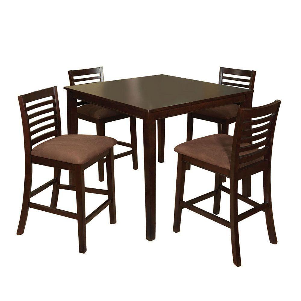 Eaton I 5-Piece Espresso (Brown) Bar Table Set   Espresso bar ...