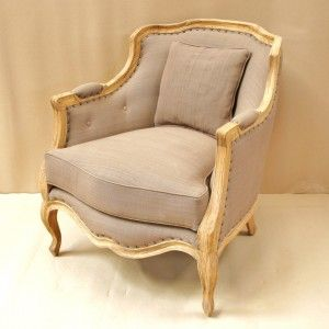 Shabby chic romantique fauteuil berg re shabby chic - Fauteuil style bergere ...