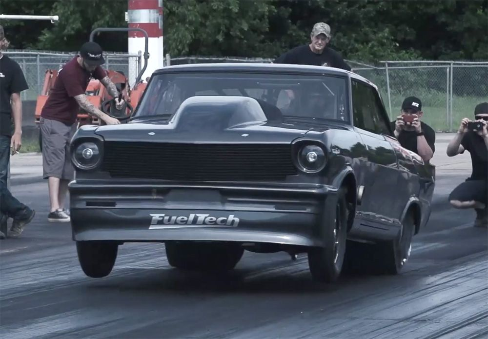 Street Outlaws Daddy Dave Debuts New Chevy II Drag Racing V - Dave's cool cars