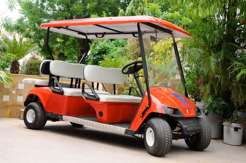 Vintage Golf Carts - Today people of all ages use #golf #carts for gardening, checking fence lines, #hunting, hauling hay, neighborhood hopping, mail checking, cattle herding, helping the handicapped get more freedom, grandchildren toting and apartment security.