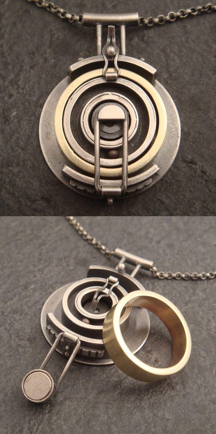 Pendant Chuck Domitrovich Wedding Ring Holder Sterling Silver
