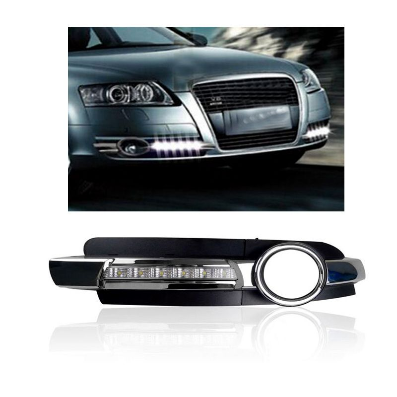 Day Light For Audi A6 2005 2006 2007 2008 12v Led Drl Daytime Running Light Fog Lamp Decoration With Images Car Lights Cool Things To Buy Lamp Decor