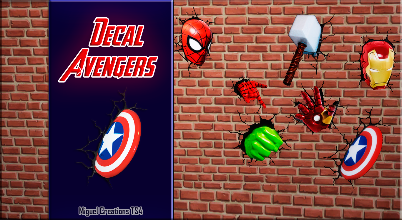 Miguel creations ts4 decal avengers my sims sims cc the sims 4 bebes