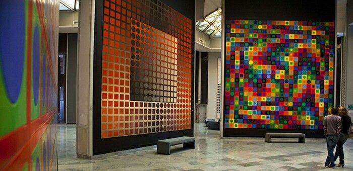 Fondation Vasarely. Inside.