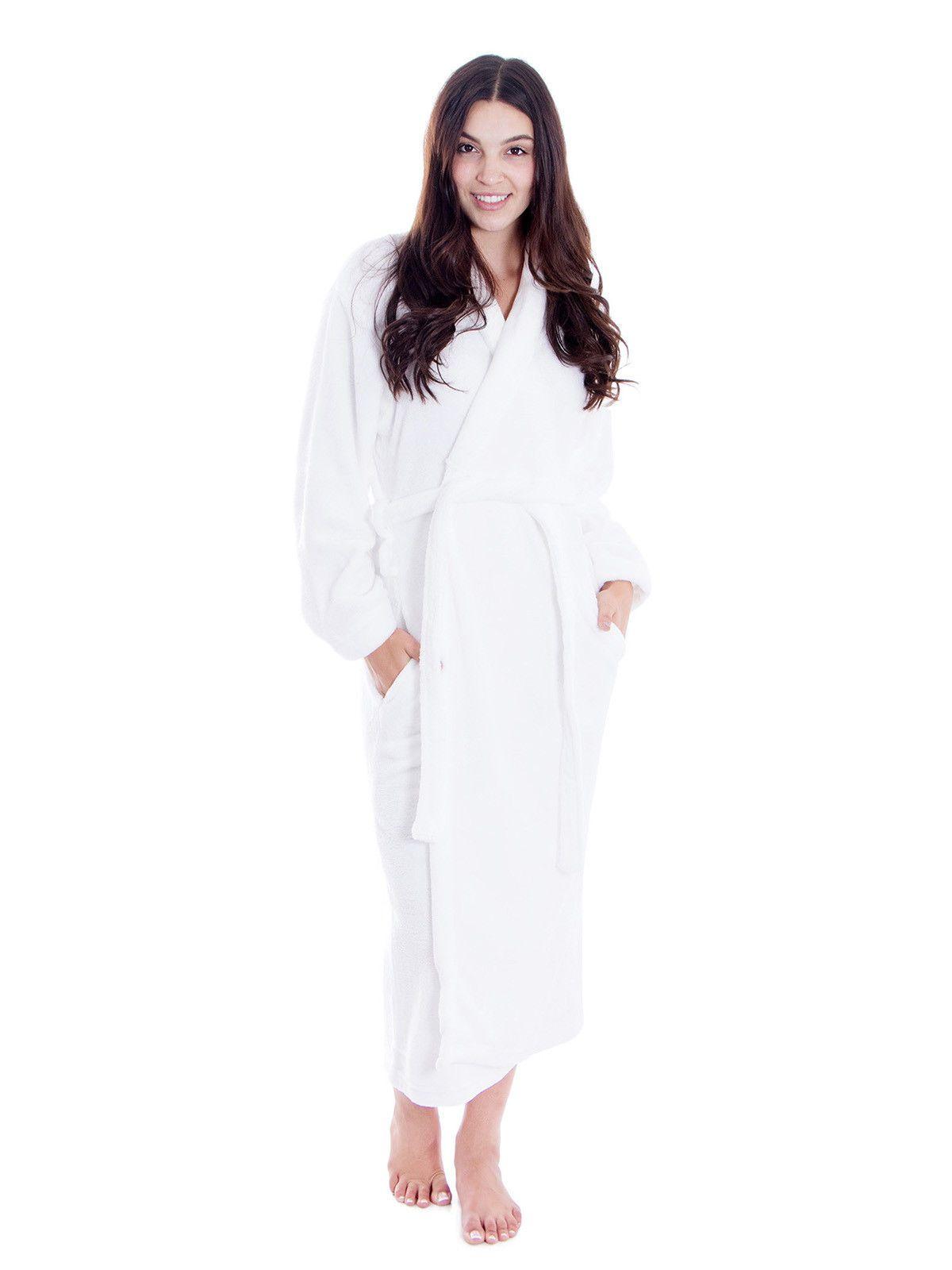 Women Men Long Sleepwear Robes Warm Winter Collar Shawl Bathrobe Spa Robes   Bathrobe  Collar 852fe83f1
