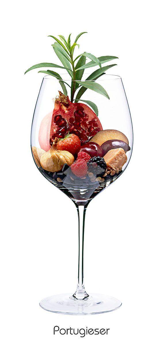 PORTUGUESE  Cherry, blackberry, plum, almond, pomegranate, strawberry, lentils, tarragon, Salmiakpastille