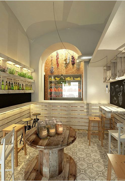 Restaurantes ambientados con palets fachadas para for Tiendas de muebles para restaurantes