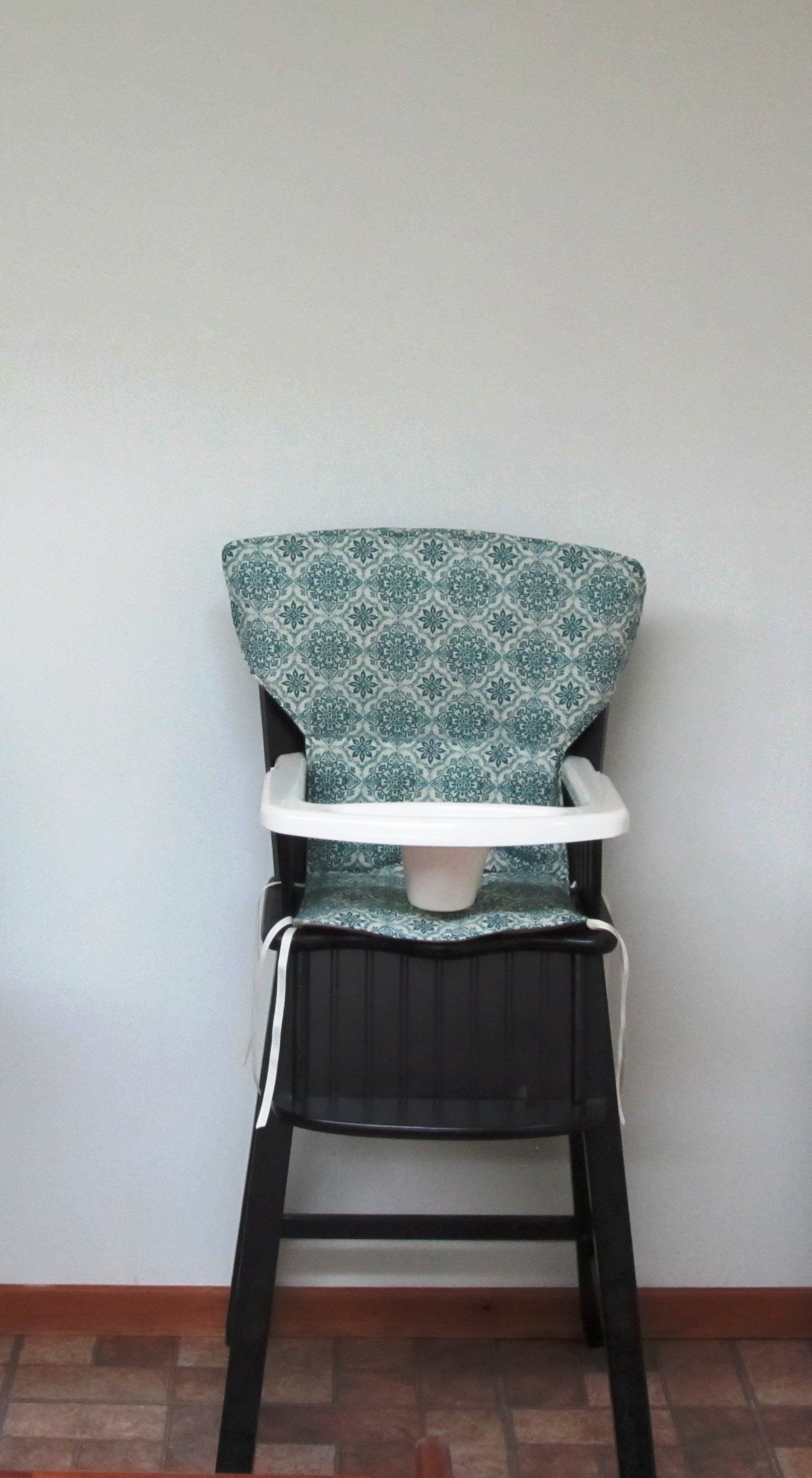padded high chair cover hire ellesmere port eddie bauer newport or safety first pad replacement feeding baby accessory dark teal damask by