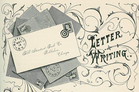 preferably in front of a sunny window take the time to write letters sealed