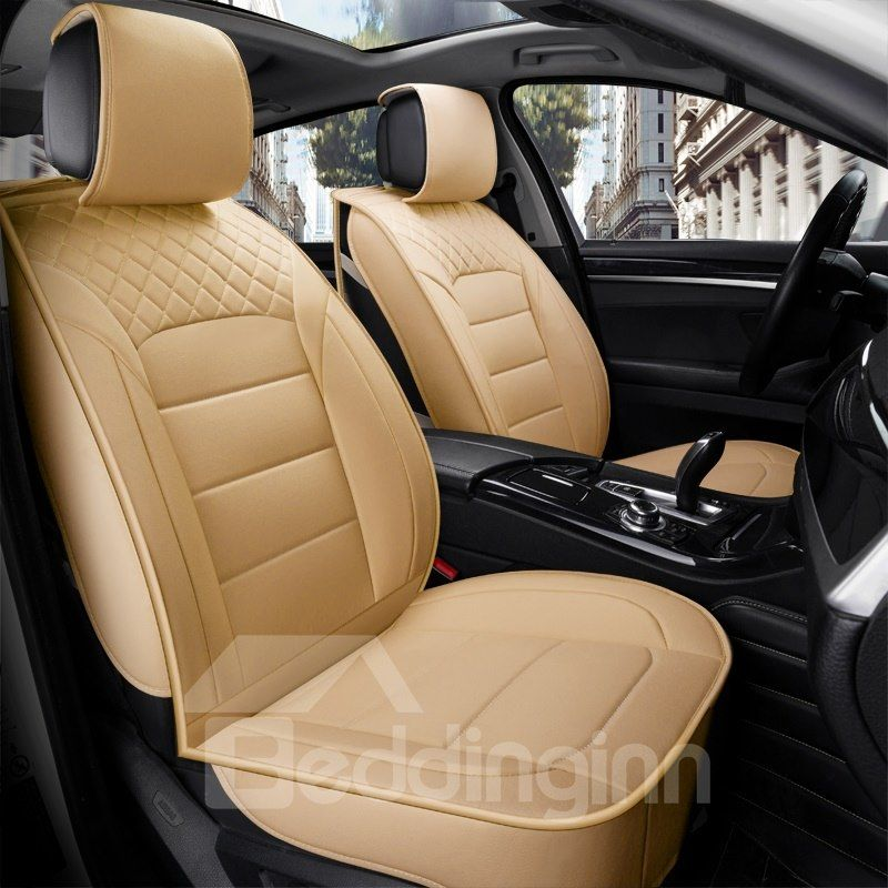 Classic Business Style Leather Cost Effective Single Seat Universal Car Seat Cover Car Seats Carseat Cover Custom Car Interior