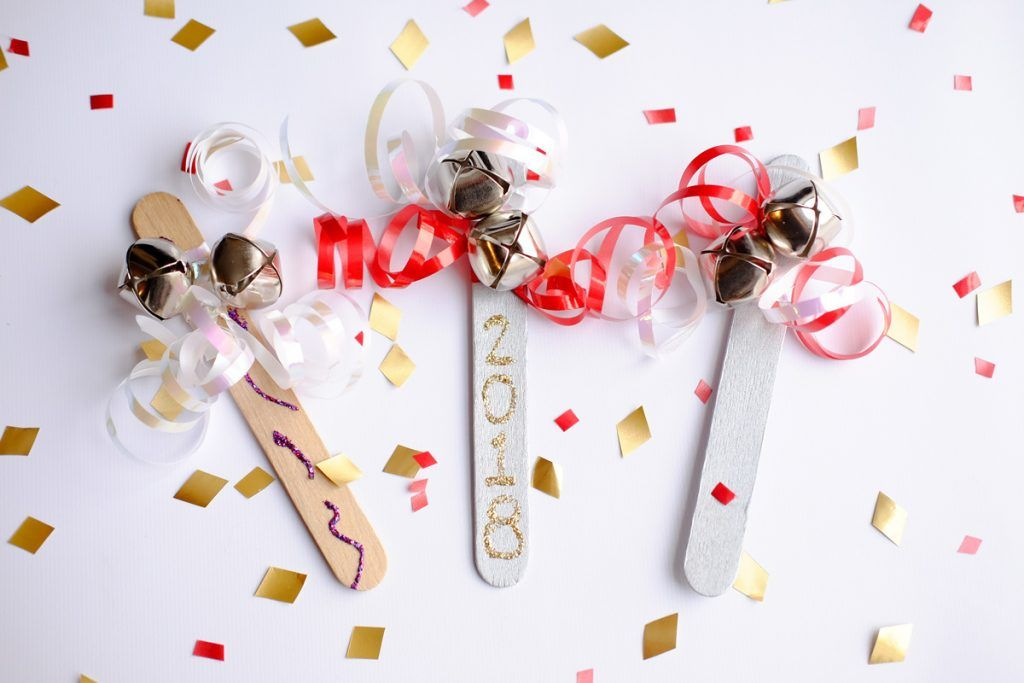 DIY New Year's Crafts New Year's Eve Noise Makers Easy