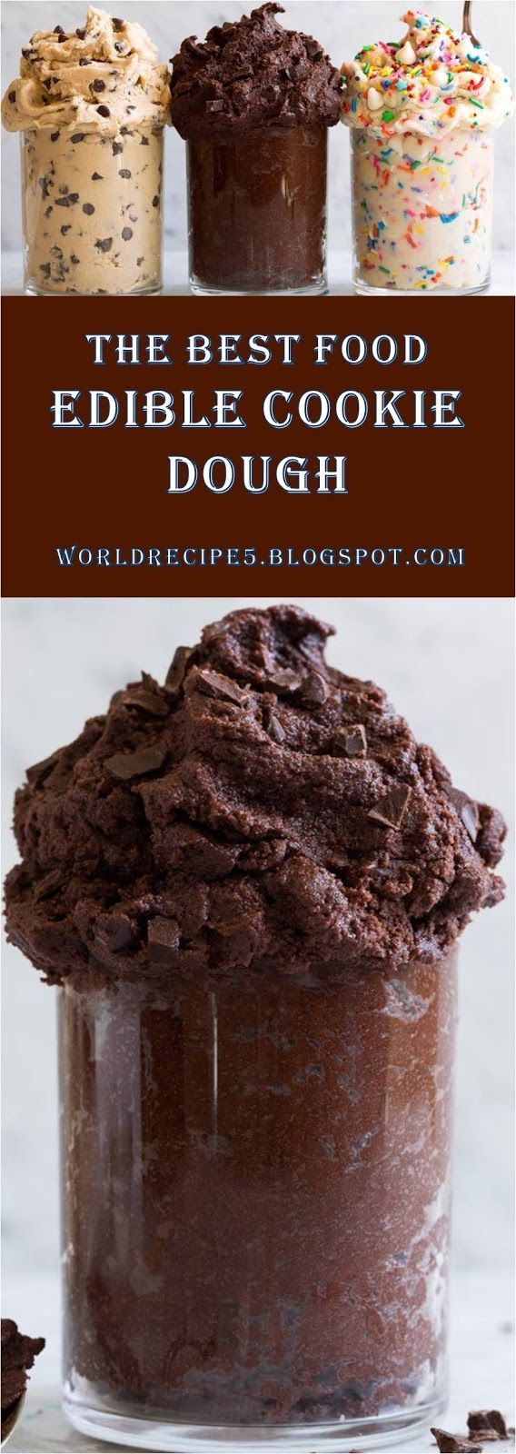 This is The Best #Food #Recipes >> Edible Cookie Dough In 3 Flavors | 1 ~ World Recipe Collection ~ | Katelyn Myriam