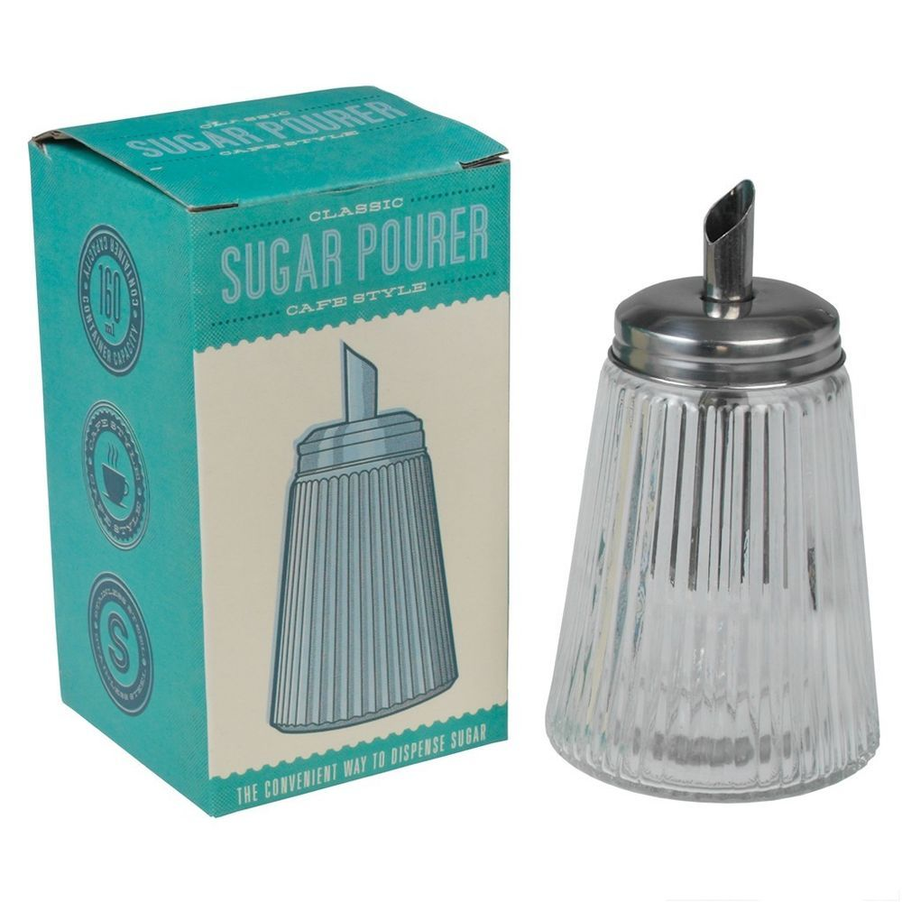 dotcomgiftshop vintage glass cafe sugar pourer dispenser shaker - Shaker Cafe Ideas