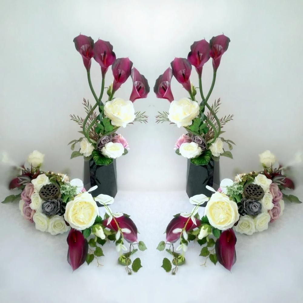 Zestaw Na Cmentarz Wspomnienia Z Dwoma Bukietami Swiateczne Atelier Floral Floral Wreath Florist