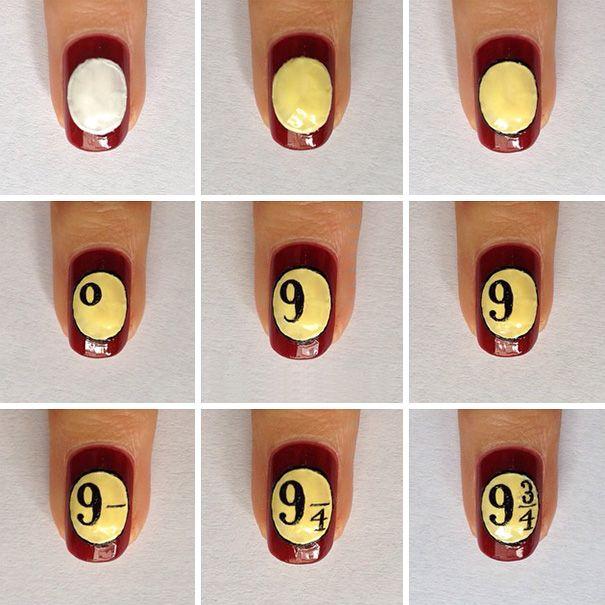 20 Increíbles diseños de uñas inspirados en Harry Potter que hasta ...