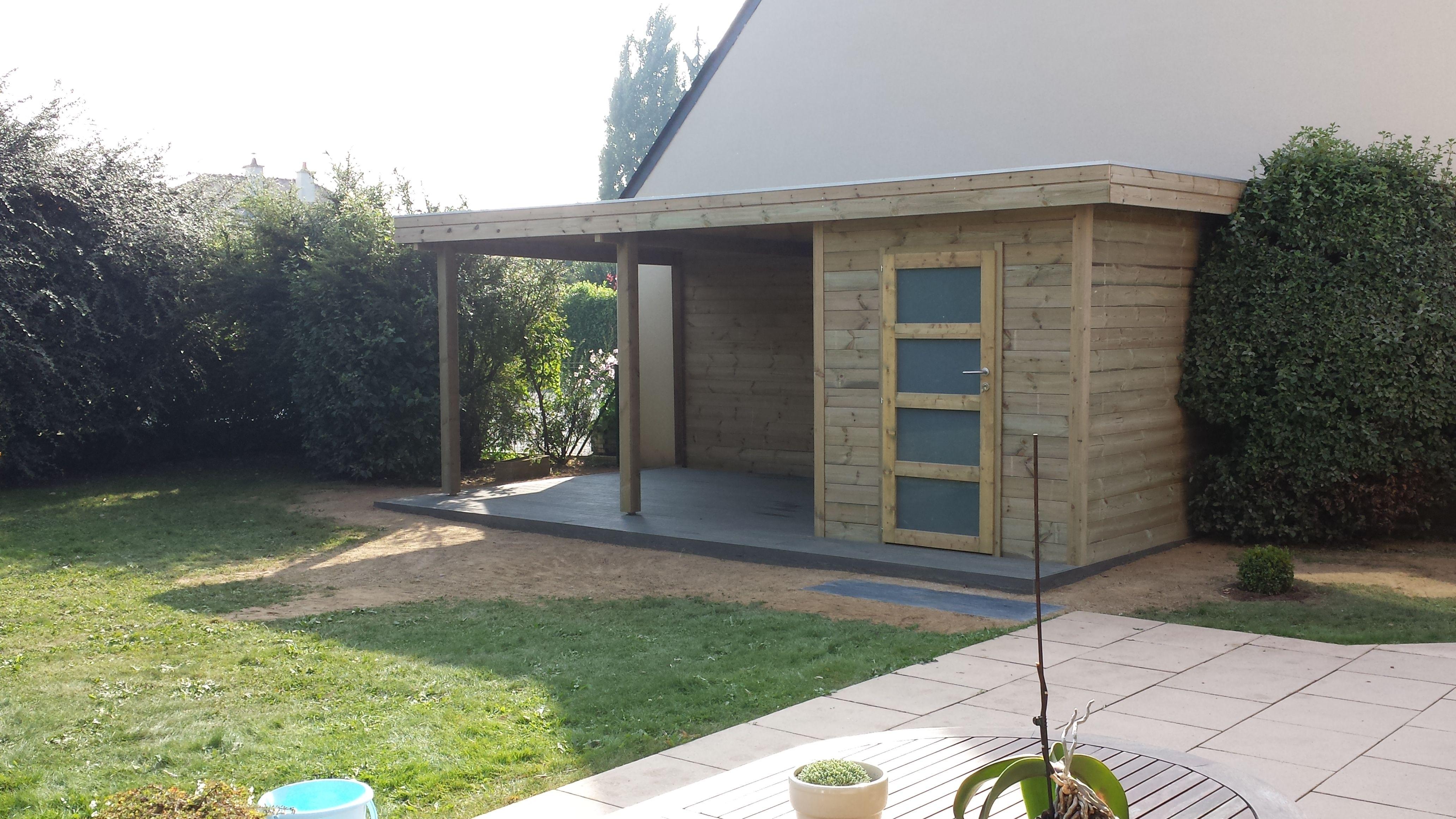 abri de jardin gardival avec extension abris carport. Black Bedroom Furniture Sets. Home Design Ideas