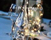 Photo of Wine Bottle Crafts, Wine Decor, String Lights for Wine Bottles, Wine Centerpiece …