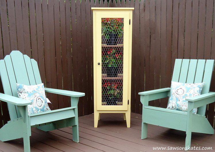 build a garden cabinet for your patio patios gardens and diy patio