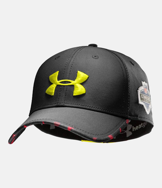 a84a27d92a88e7 Men's NFL Combine Authentic Stretch Fit Cap, Black , zoomed image