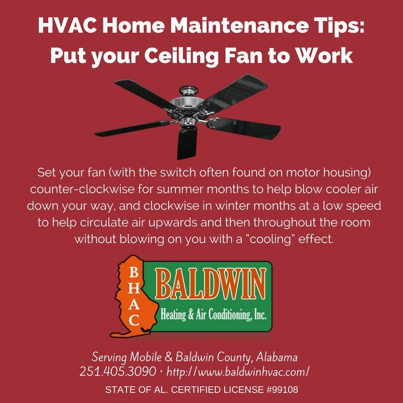 Put Your Ceiling Fan to Work  http://www.baldwinhvac.com/