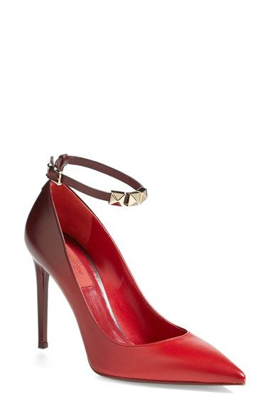 Free shipping and returns on Valentino  Rouge Absolute  Ankle Strap Pump  (Women) at Nordstrom.com. Signature pyramid studs embellish the slim ankle  strap of ... 09598716903